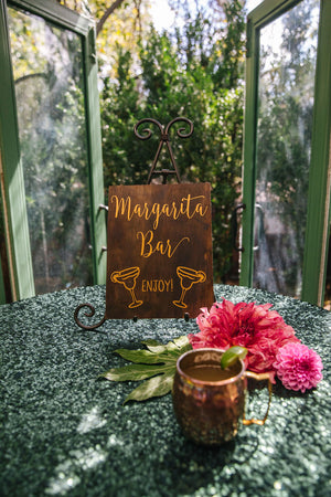 Margarita Bar | Vinyl Decal | Fiesta Party Sign | Bar Sign | Trending Event Decor