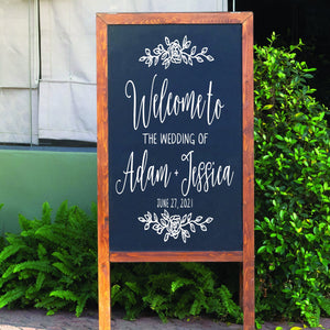 Welcome Wedding Sign | Chalkboard Decal | Custom Sign | Rustic Wedding Decor