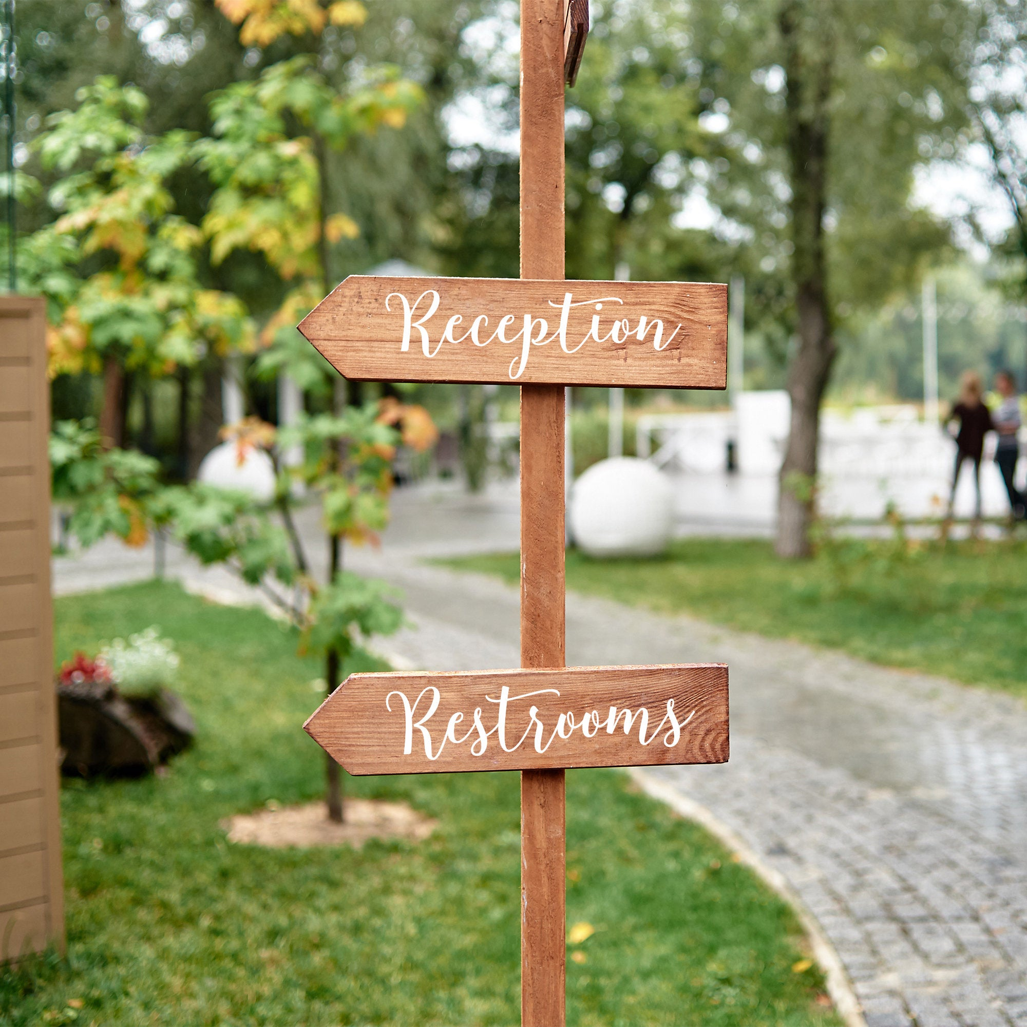 Wedding Directional Decal Signs | Create Your Own Direction Sign | Peel and Stick Wedding Decals | You Choose the Word