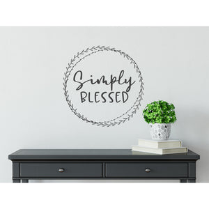 Simply Blessed Wall Lettering Quote | Farmhouse Decor | Entryway Decor | Family Wall Art Signs