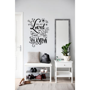 You Are Loved Wall Decal | Chalkboard Decal | Family Sign | Farmhouse Decor | Entryway Decor | Family Wall Art Signs