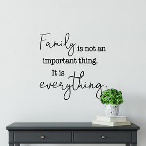 Family Is Everything Wall Decal | Family Sign | Farmhouse Decor | Entryway Decor | Family Wall Art Signs