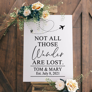 Chalkboard Decal, Wedding Sign, Not All Who Wander Are Lost, Reception Sign, Wedding Welcome Sign, Adventure Begin, Wedding Decor, Love