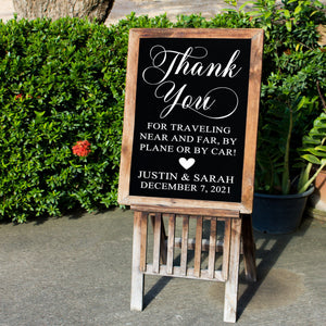 Thank You for Celebrating Wedding Decal | Wedding Decor | Rustic Wedding | Welcome Wedding Sign