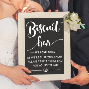 Biscuit Bar | Wedding Decal | Dog Treat Bar | DIY Wedding Decor