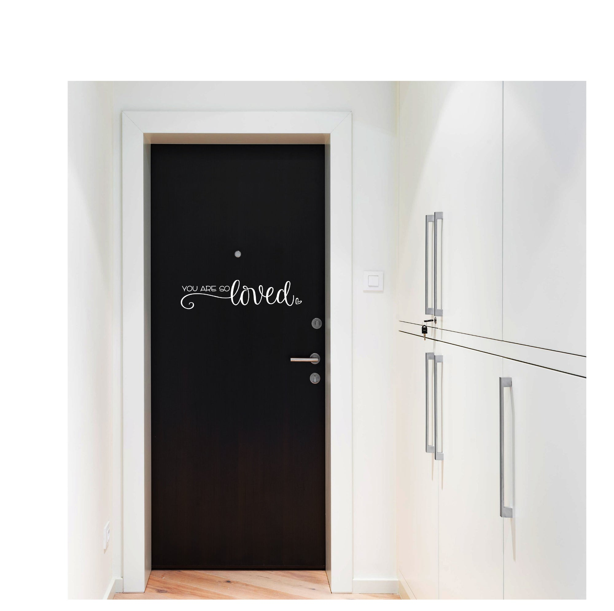 You Are So Loved Door Decal | Entryway Decor | Wall Decal