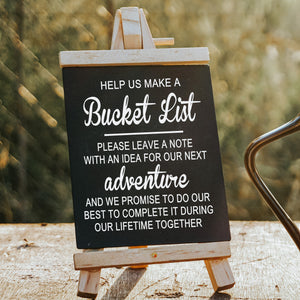 Help Us Make a Bucket List | Wedding Decal
