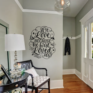 We Love Because | Wedding Decor | Peel and Stick Wall Decal