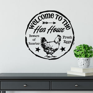 Farmhouse Decor | Chicken Wall Art | Wall Decal | Create Your Own Sign