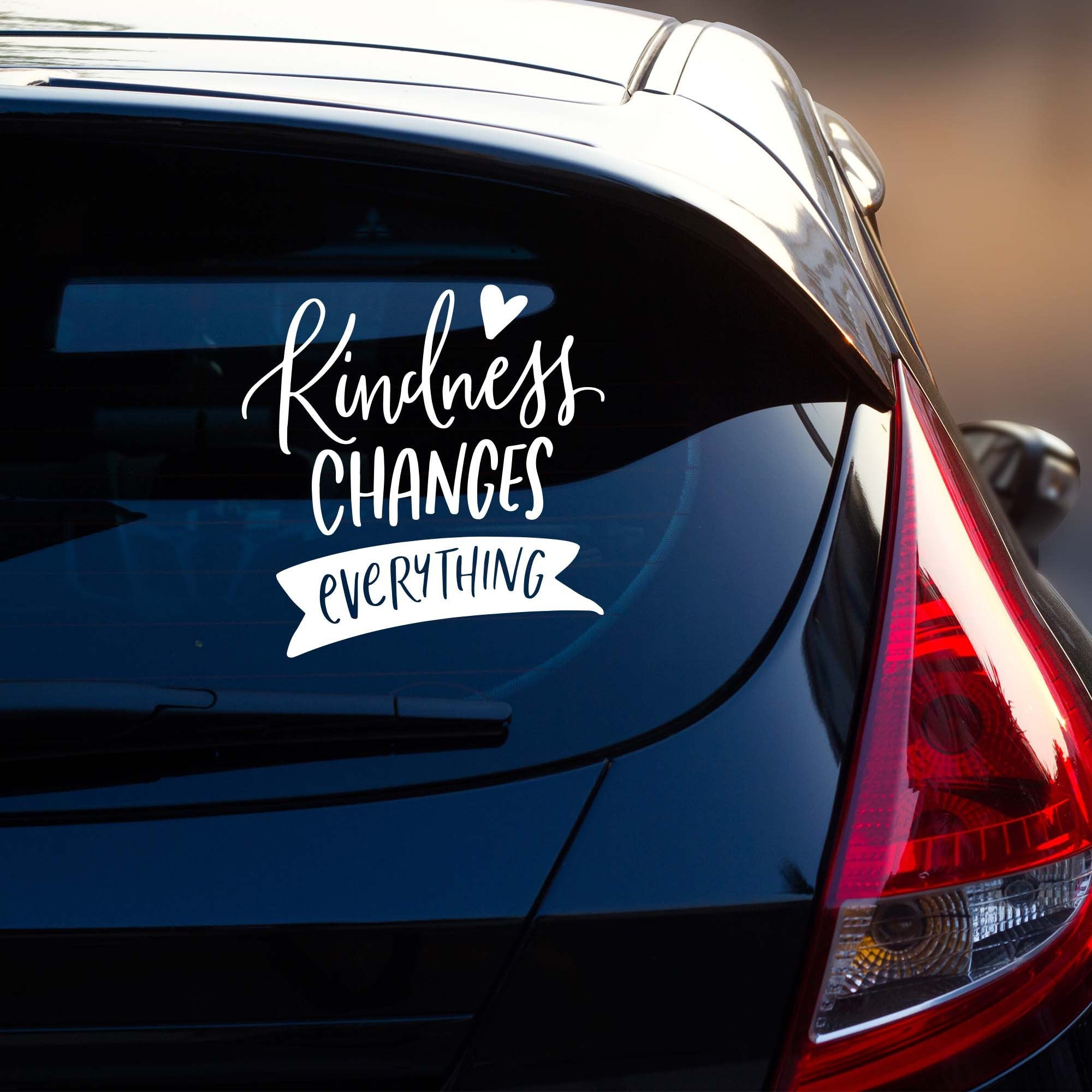 Kindness Changes Everything Vehicle Decal | Car Window Sticker