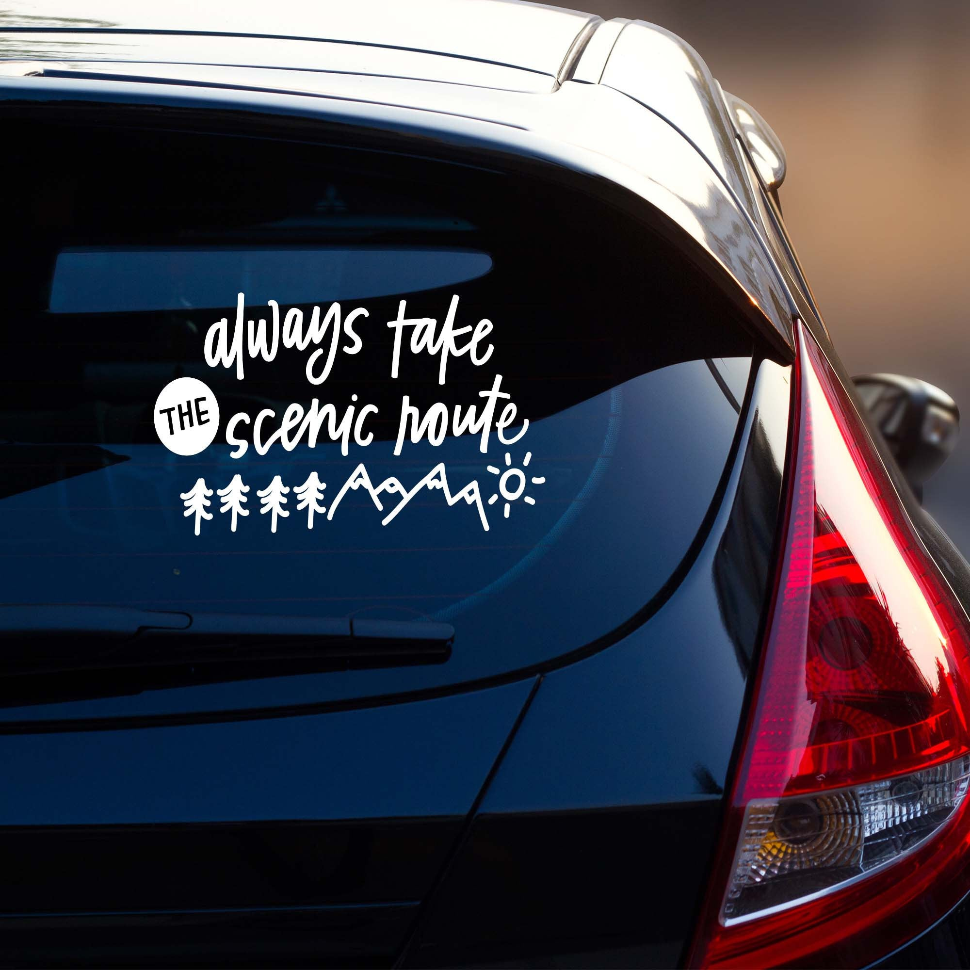 Always Take the Scenic Route Adventure Vehicle Decal | Car Window Sticker