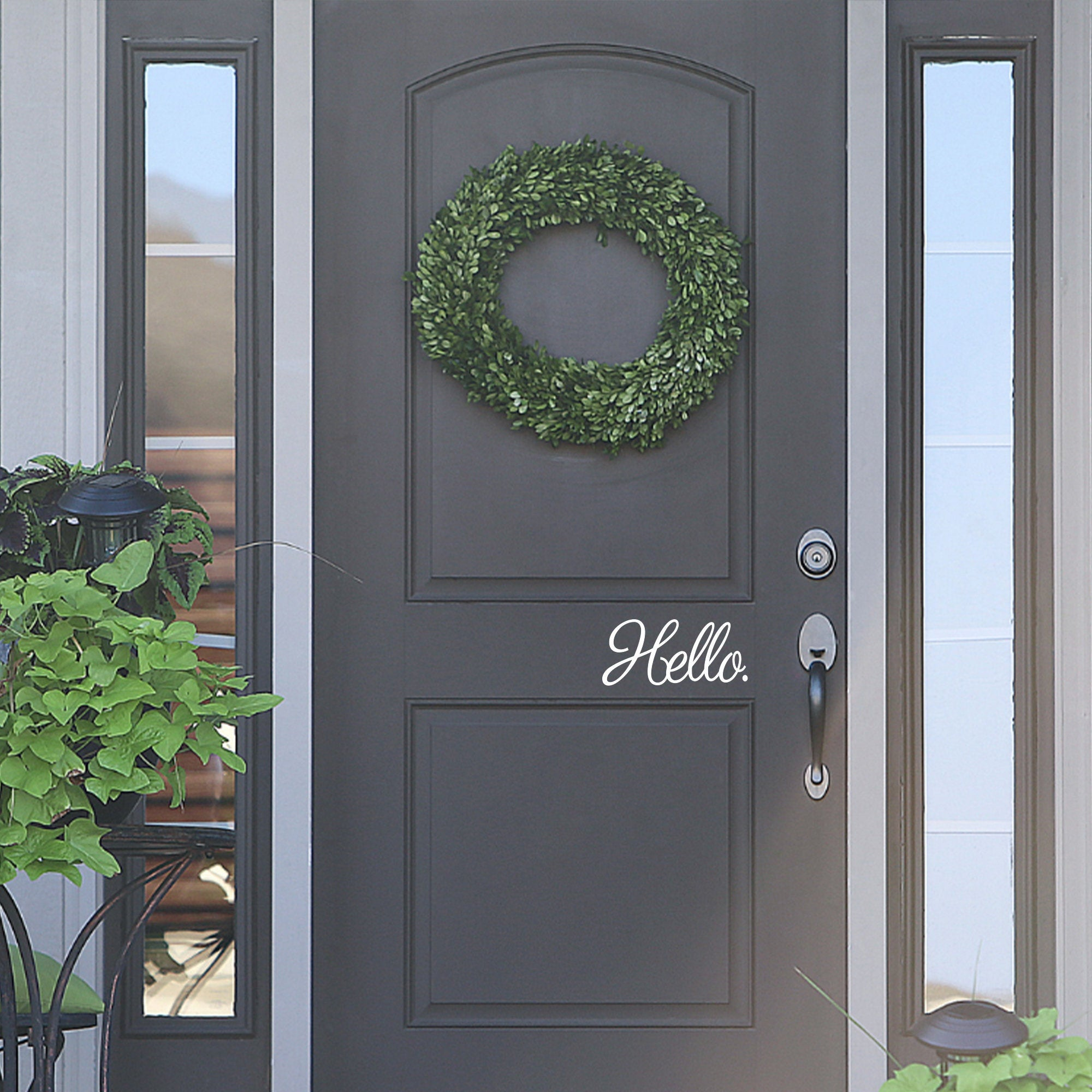 Welcome Home Front Door Hello Decal Sticker Cling