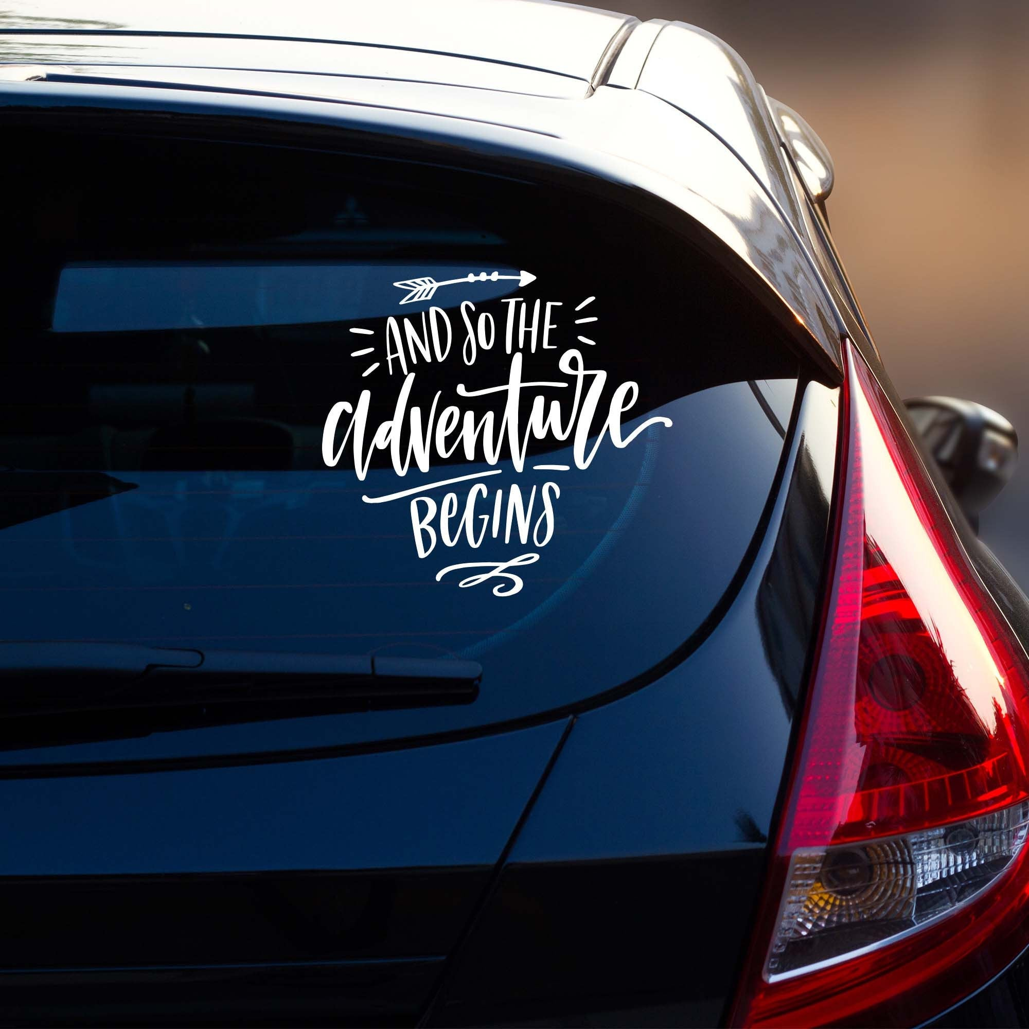 And So the Adventure Begins Vehicle Decal | Car Window Sticker