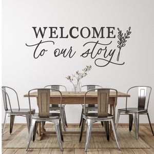 Welcome to Our Story | Wall Decal | Removable Wall Decor | Multiple Sizes and Colors Available