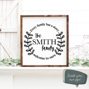 Family Name Monogram Wall Decal Sticker | Farmhouse Wall Decor