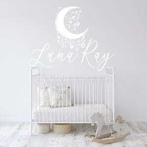 Boho Nursery Wall Name Decal | Bedroom Wall Art | Multiple Sizes and Colors | Custom Wall Decal