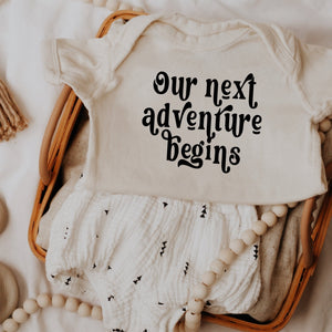 Baby Reveal Onesie | Our Next Adventure Begins | Baby Onesie | | Quarantine Pregnancy | Baby Shower Gift | Announcement Onesie