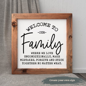 Family Wall Decal | Multiple Sizes and Colors | Family Gifts | Farmhouse Decor | Housewarming Gift | Wall Stickers