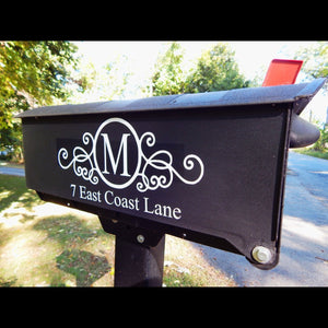 Custom Mailbox Vinyl - Custom Mailbox Decals - Custom Decals for Mailbox - Custom Vinyl Mailbox Lettering - Mailbox Stickers