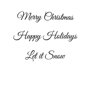 Merry Christmas - Happy Holidays - Let it Snow - Door Decal - Vinyl Sticker - Home Decor - Decorations