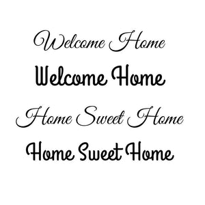Welcome Home - Home Sweet Home - Front Door Decals