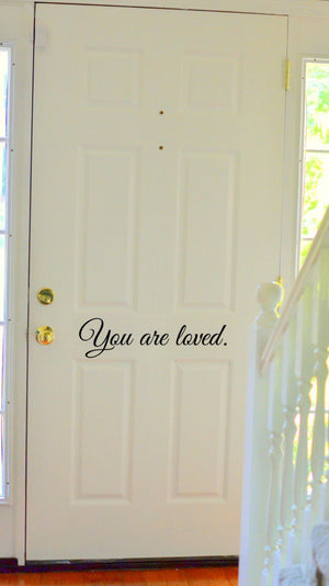 You are loved // Valentines // Wall Decal Stickers // Family Sayings // Quotes // Gifts // Romantic // Housewarming // Wedding