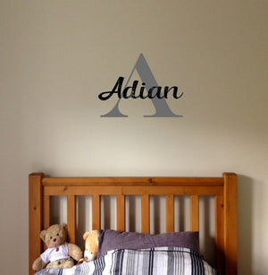 Boys Wall Name Decal Sticker // Boys Room // Name Decal // Nursery // Kids Room // Name Sign // Wall Decal // Personalized Wall Decal