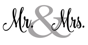 Mr. & Mrs. Wall Decal Sticker // Newlywed Decor // Couple Gift // Valentines // Love // Wife // Husband // Bedroom Decor // Wedding Gift