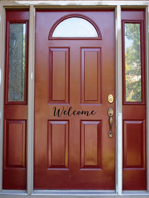 Welcome Door Decal // Front Door // Entryway // House // Home // Decor // Sign // Sticker // Cling // Decoration // Welcome Home // Welcome