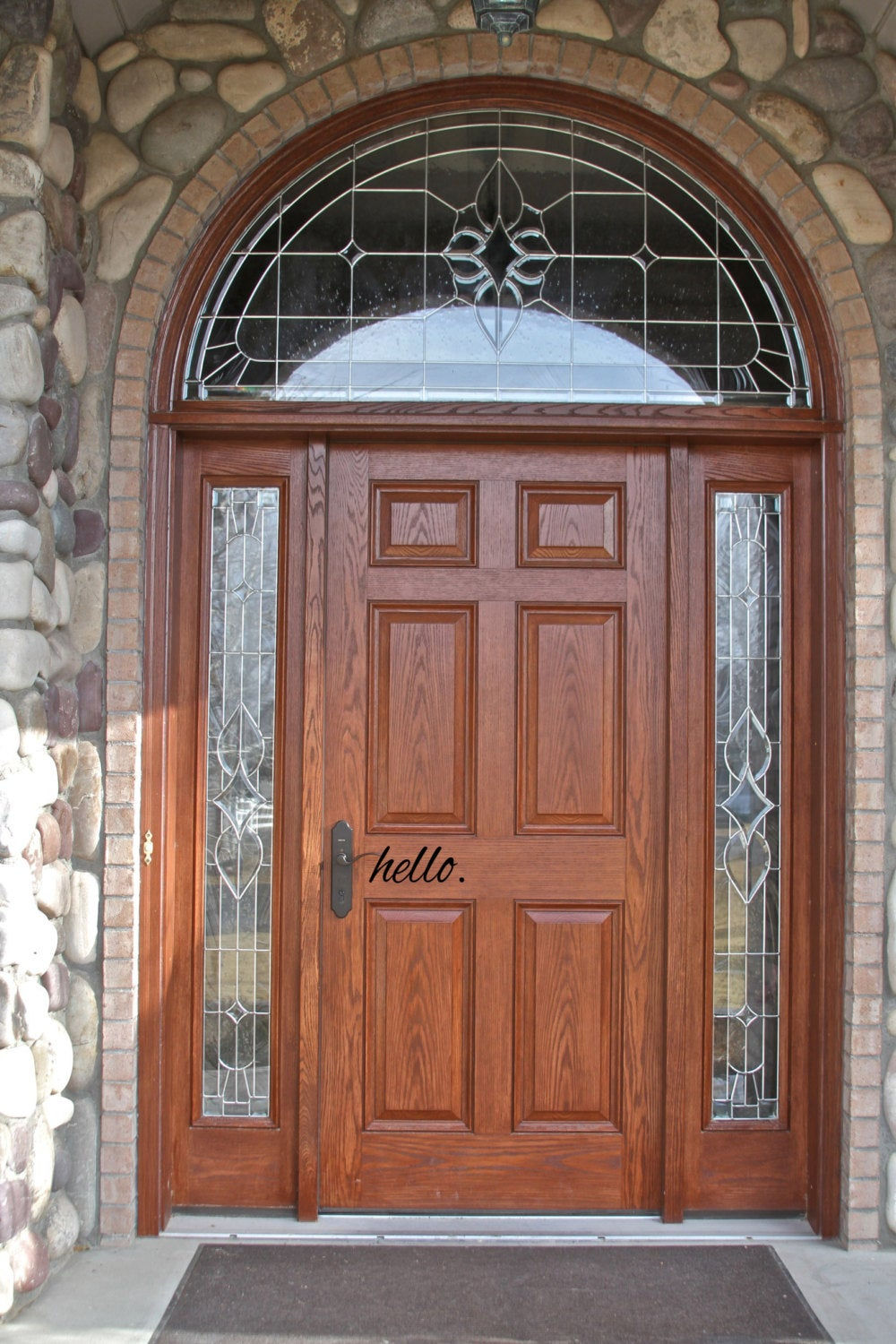 Hello Door Decal // Front Door // Entryway // House // Home // Decor // Sign // Sticker // Cling // Decoration // Welcome Home // Welcome