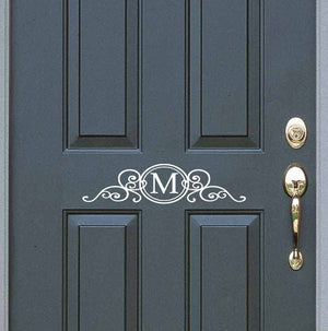 Front Door Decal | Monogram Sticker