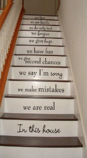 House Rules Stair Decal Stickers, Family Rules Decal Sticker