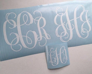Monogram Decal - Car Decal - Personalized Decal - Monogram Sticker - Vehicle Monogram  - Preppy Monogram - Gift for Her - Friend Gift