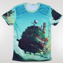 Anime Movies - Exclusive Moving Castle Anime T Shirt