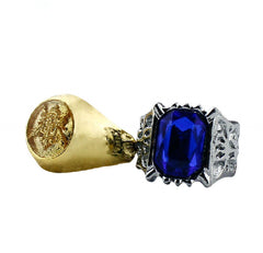 Black Butler - ★ Rare ★ Black Butler Ciel - Blue/Gold Rings **50% OFF**