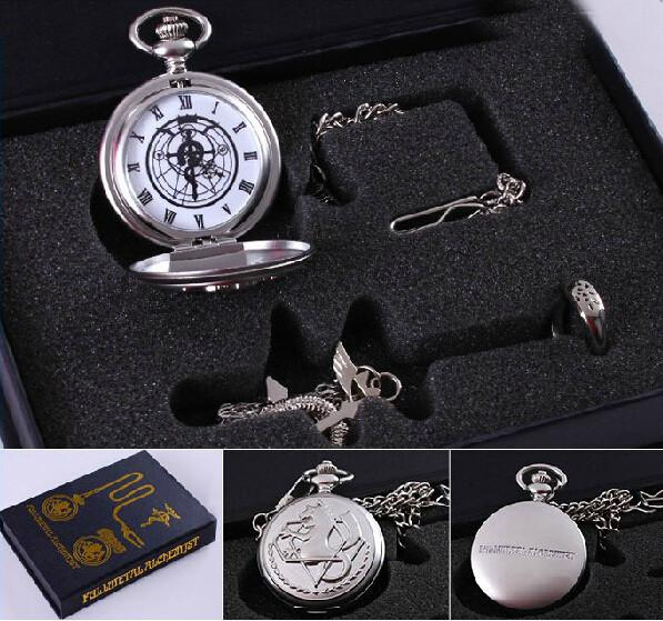 Fullmetal Alchemist - Fullmetal Alchemist Set - Pocket Watch + Necklace + Ring Set