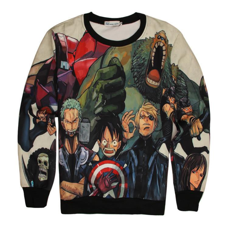 One Piece - Exlusive One Piece + Avangers 3D Sweatshirt