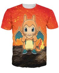 POKEMON - Charmander Crewneck 3D T-Shirt