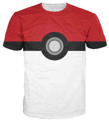 POKEMON - Crazy Pokemon 3D Pokeball T-Shirt