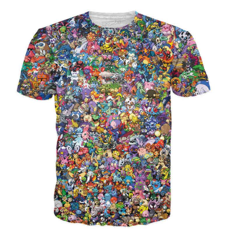 POKEMON - Exlusive All Pokemon 3D T-Shirt