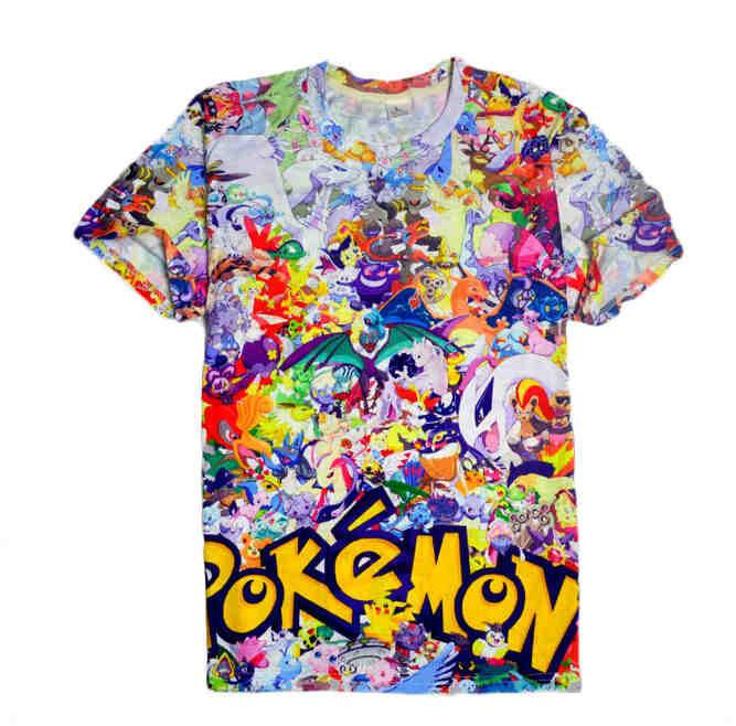 POKEMON - New Style Crewneck 3D Pokemon T Shirt