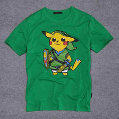 POKEMON - Pokemon Pikachu Zelda Link T-Shirts
