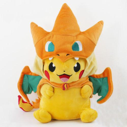 POKEMON - Rare: 9'' Pokemon Pikachu With Charizard Hat - **50% OFF**