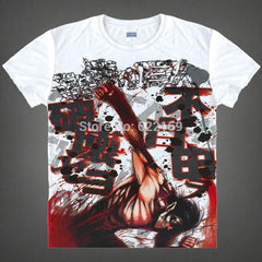 T-Shirts - 2015 Attack On Titan Eren Yeager Japanese Famous Animation T Shirt Anime Novelty Summer Men's T-shirt Cosplay Costume Clothing