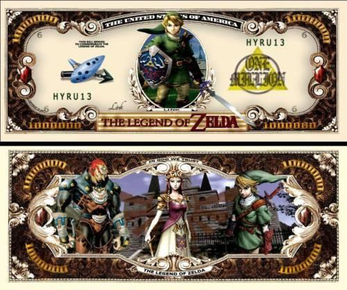The Legend Of Zelda - THE LEGEND OF ZELDA DOLLAR BILL (2 Bills)