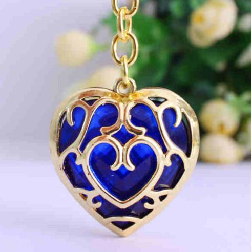 The Legend Of Zelda - The Legend Of Zelda Heart Necklace Blue/Red