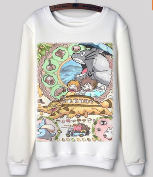 Totoro - Totoro Long Sleeve Sweatshirts Collection V1