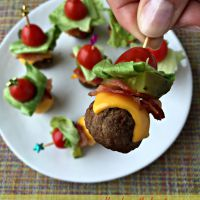 Bacon Cheeseburger Meatballs -Perfect Tailgate Food