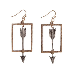 Wire Wrapped Arrow Pendant Earrings