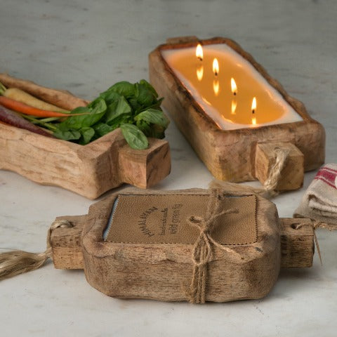 Driftwood Candle Tray  24oz